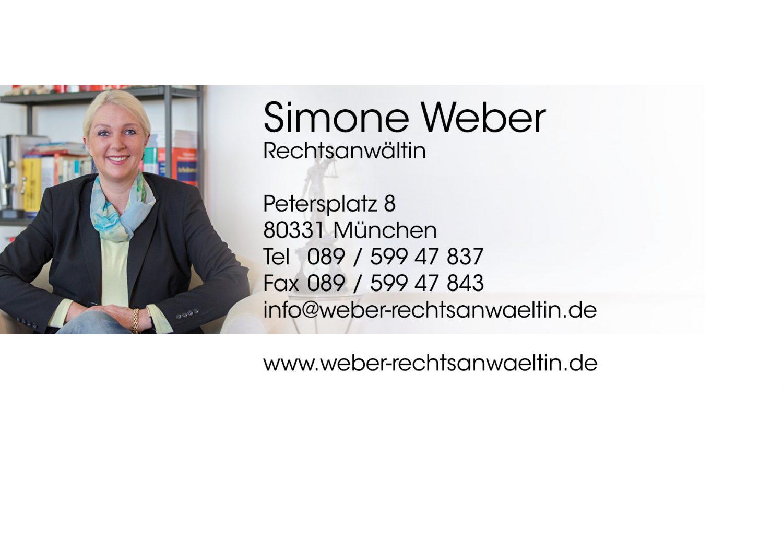 Impressum Von Rechtsanwältin Simone Weber